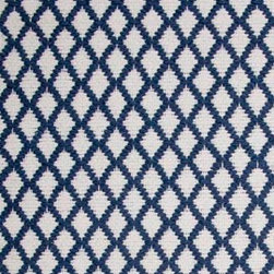 Hook & Loom Rug Company - Interlaken Denim/White Rug - Very eco-friendly rug, hand-woven with yarns spun from 100% recycled fiber.  Color comes from the original textiles, so no dyes are used in the making of this rug.  Made in India.