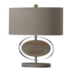 Dimond Lighting - Dimond Lighting D2296 Hereford Bleached Wood Table Lamp - Dimond Lighting D2296 Hereford Bleached Wood Table Lamp