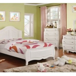 Furniture of America Aiden Crown Top Panel Bed - White - The Furniture of America Aiden Crown Panel Bed - White's bright and airy design sensibilities add cheer to your child's bedroom. The simple yet fun design with clean lines and slight flourishes will make it difficult to find a wrong side of the bed to wake up on.About Furniture of America Based in California, Furniture of America has established itself as a premier provider of fine home furnishings. The people behind Furniture of America brand are moved by passion, hard work, and persistence. They are always striving to design the latest piece, keeping in mind their mission to make quality furniture available to urban-minded shoppers, without compromising the packaging integrity.Furniture of America offers unique, coordinated, and affordably designed furniture; they are a one-step resource for high-quality furniture with secure and professional packaging in the furniture industry.