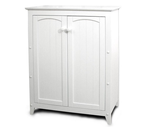 Catskill - Catskill White All-Purpose Kitchen Storage Cabinet with Double Doors - 89035 - Shop for Bathroom Etageres Racks and Space Savers from Hayneedle.com! The Catskill White All-Purpose Double-Door Cabinet offers a smart and good-looking storage solution for any space in your home. Small enough for spaces like bathrooms kitchens or foyers but attractive enough for the living room or bedroom this cabinet can store everything from towels to food to clothes. Constructed of warp-resistant materials it features a clean white lacquered finish that will brighten up any room. The wainscoting on the doors adds a traditional decorative touch. Requires simple nut-and-bolt assembly with the use of common household tools.Dimensions:Overall: 28.5W x 12.5D x 36H inchesCabinet Interior: 26.75W x 9.5D x 29H inchesCatskill Craftsmen's Eco-friendly PracticesCatskill Craftsmen is committed to protecting the environment through responsible forest management and manufacturing practices. Located in the Catskill Mountains of upper state New York Catskill Craftsmen plays a role in maintaining the health of the New York City watershed. This watershed provides clean water for New York City and other communities in the area. Healthy well-managed forests are better able to filter pollutants from entering streams and rivers which preserves the quality of watershed resources. With this goal in mind the company supports the efforts of the Watershed Agricultural Council (WAC). With the WAC Catskill Craftsmen encourages lumber suppliers (family forest owners and public land managers) to make wise harvesting decisions and control erosion in order to safeguard water quality.Other efforts to protect the environment include using sustainable wood sources and reducing wood waste. Catskill Craftsmen's manufactured items are made from naturally self-sustaining non-endangered North American hardwoods primarily birch and hard rock maple. All sawdust shavings and waste materials generated during the manufacturing process are converted into wood pellet fuel used to heat homes. This alternative heating source creates less ash and lower emissions than some other fuels. By operating their own wood pellet mill Catskill Craftsmen reduces their wood waste to zero. As natural resources become even more valuable Catskill Craftsmen will continue to advance proper stewardship of the pristine Catskill Mountain region.About Catskill CraftsmenFor over 60 years Catskill Craftsmen has provided customers with high-quality domestic hardwood ready-to-assemble products. Located in Stamford New York Catskill Craftsmen manufactures kitchen carts islands work centers gourmet butcher block chopping blocks cutting boards hardwood cabinets furniture book carts and racks. Catskill Craftsmen is recognized as the nation's leading manufacturer of premium wooden products.