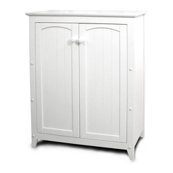 Catskill - Catskill White All-Purpose Kitchen Storage Cabinet with Double Doors - 89035 - Shop for Bathroom Etageres Racks and Space Savers from Hayneedle.com! The Catskill White All-Purpose Double-Door Cabinet offers a smart and good-looking storage solution for any space in your home. Small enough for spaces like bathrooms kitchens or foyers but attractive enough for the living room or bedroom this cabinet can store everything from towels to food to clothes. Constructed of warp-resistant materials it features a clean white lacquered finish that will brighten up any room. The wainscoting on the doors adds a traditional decorative touch. Requires simple nut-and-bolt assembly with the use of common household tools.Dimensions:Overall: 28.5W x 12.5D x 36H inchesCabinet Interior: 26.75W x 9.5D x 29H inchesCatskill Craftsmen's Eco-friendly PracticesCatskill Craftsmen is committed to protecting the environment through responsible forest management and manufacturing practices. Located in the Catskill Mountains of upper state New York Catskill Craftsmen plays a role in maintaining the health of the New York City watershed. This watershed provides clean water for New York City and other communities in the area. Healthy well-managed forests are better able to filter pollutants from entering streams and rivers which preserves the quality of watershed resources. With this goal in mind the company supports the efforts of the Watershed Agricultural Council (WAC). With the WAC Catskill Craftsmen encourages lumber suppliers (family forest owners and public land managers) to make wise harvesting decisions and control erosion in order to safeguard water quality.Other efforts to protect the environment include using sustainable wood sources and reducing wood waste. Catskill Craftsmen's manufactured items are made from naturally self-sustaining non-endangered North American hardwoods primarily birch and hard rock maple. All sawdust shavings and waste materials generated during the manu