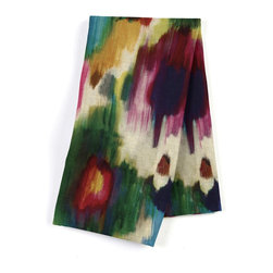 Jewel Tone Dappled Watercolor Custom Napkin Set - Our Custom Napkins are sure to round out the perfect table setting'whether you're looking to liven up the kitchen or wow your next dinner party. We love it in this super hot abstract watercolor linen in multicolor jewel tones.  a modern masterpiece for the artist at heart.