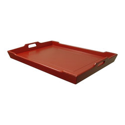 EuroLux Home - New Tray Red Painted Hardwood Chedi TW - Product Details
