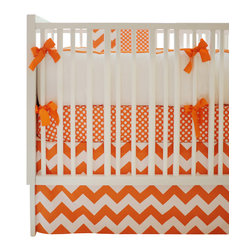 New Arrivals Inc. - Chevron Zig Zag Baby Tangerine Crib Bedding Set 4-Piece by New Arrivals Inc. - The Chevron Zig Zag Baby Tangerine Crib Bedding Set by New Arrivals Inc, along with the Zig Zag Tangerine bedding accessories.