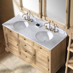 "59.25"" Paliano Double Sink Vanity - Natural Oak -"