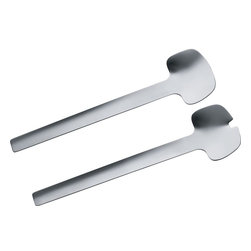 "Alessi - Alessi ""Tibidabo"" Salad Set - When you have this impressive salad-spoon set, you're all set to start mixing it up. The elongated handles and curvaceous heads allow you to get those greens and veggies mingling nicely together."