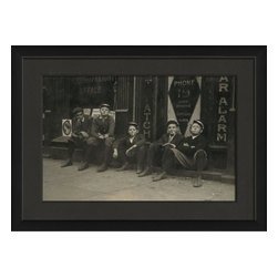 The Artwork Factory - The Boys Are Back In Town Framed Photograph - Made in the USA.