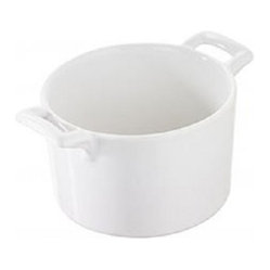 Revol - Revol Porcelain Belle Cuisine Cuisine Individual Soufflé 5.25 oz. White - For a sleek look to your culinary porcelain, add this lovely soufflé pan to your cookware. The dual handles make this sleek piece user-friendly, so you'll bake the perfect souffle, every time. This incredibly versatile souffle pan is safe for use in the oven, microwave, freezer and dishwasher.