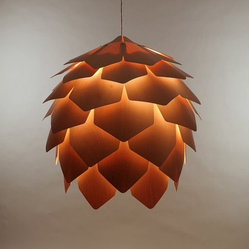 Crimean Pinecone Lamp, Maple Wood, Size 8 by Eekra