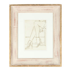"'1960-70s Heels & Legs' Etching - The musical, ""Chicago"", was all about the legs, and so is this original etching by an artist, Howard Albert, from that storied city. This vintage-framed art piece is just that kick of edge and chic that your wall needs."