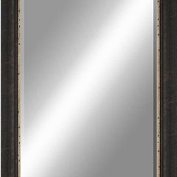 Paragon Decor - Beveled Mirror, Clouded Dark Wood, 24x36 - Mirror, Mirror, on the wall, who's the most beautiful mirror of them all? Reflect your impeccable taste with this traditional-style mirror, which features a gorgeous clouded dark wood frame and high-quality interior beveled mirror. This piece measures 30 inches wide, 1 inch deep, and 42 inches high.