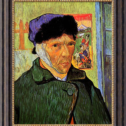 Amanti Art - Self Portrait with Bandaged Ear, 1889  by Vincent van Gogh - Considered the greatest Dutch painter after Rembrandt, van Gogh's striking & exuberant paintings were all produced during a period of ten years. Through forceful color, aggressive brushwork & contoured forms, his work conveys deep, emotional undercurrents