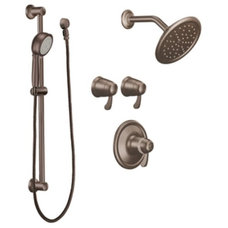 Moen TS270 Triple Handle Vertical Spa Trim with Personal Hand Shower and Rainsho