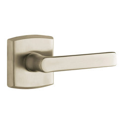 Baldwin Hardware - Baldwin Estate 5485V Soho Lever Set - Satin Nickel - Privacy - 5485V Product Details: