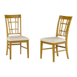 Atlantic Furniture - Atlantic Furniture Montego Bay Oatmeal Fabric Side Chair (Set of 2)-Caramel Latt - Atlantic Furniture - Dining Chairs - AD773107 - The Atlantic Furniture Montego Bay Dining Side Chairs are constructed from Eco-friendly solid hardwood and have an elegant wood finish. This set of two dining side chairs feature an Oatmeal colored seat cushion. The Montego Bay Dining Side Chairs are perfect for a casual dining room setting.