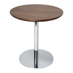 sohoConcept - Tango Counter and Bar Table - Simple and functional Tango table demonstrates refined design features with its round chrome plated steel pedestal base.