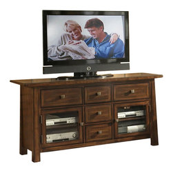 Somerton - Somerton Dwelling Dakota TV Console in Rich Brown - Somerton - TV Stands - 42529