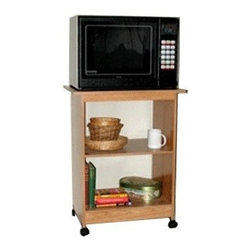 Rush Furniture - Charles Harris Microwave Cart - Features: -Casters for mobility.-Great multipurpose design.-Perfect for home or office.-Great line is designed with quality, value, style and function in mind.-Sturdy construction.-Natural honey woodtone finish.-This homey little multipurpose castered cart has a sturdy build with a warm honey laminate finish on high density engineered wood core. There is ample shelving area for a full microwave or small TV, cookware, cookbooks and more. This unit can also be used along with your computer stationed for a convenient mobile printer/fax cart. A recessed lower shelf offers additional storage area for your software, machine paper, textbooks and more..-Collection: Charles Harris.-Distressed: No.-Country of Manufacture: United States.Dimensions: -Overall dimensions: 30.13'' H x 23.63'' W x 16'' D.-Overall Product Weight: 35 lbs.Warranty: -All Rush products come with Warranty.