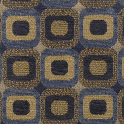 GEOMETRIC - BLUESTONE - 68% Polyester 16% Cotton16% Rayon. Durability: 30,000  Cotton Duck Double Rubs, PASSES UFAC CLASS 1, PASSES NFPA 260A. Made in USA.