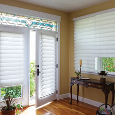 Contemporary Roman Shades by Home Source Custom Draperies & Blinds