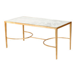 Worlds Away - Worlds Away Gold Leaf Sabre Leg Coffee Table FNAMCF - Worlds Away Gold Leaf Sabre Leg Coffee Table FNAMCF