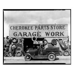 Auto Parts Shop. Atlanta, Georgia Print - Auto parts shop. Atlanta, Georgia. Original image taken by Walker Evans on a large format camera. Created as a staff photographer for the Farm Security Administration- Office of War Information, WPA in March, 1936.
