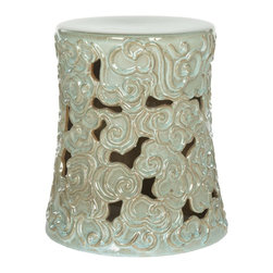 Safavieh Sassari Garden Stool Intricately Detailed