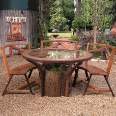 eclectic outdoor tables by Hayneedle