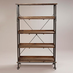 Emerson Shelf with Step - I adore the combination of metal and wood. I'm always looking for warmth to add to my work room.