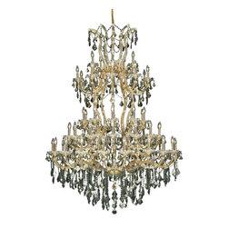 Elegant Lighting - Elegant Lighting 2800G54G-GT/RC Maria Theresa Collection Large Hanging Fixture - Elegant Lighting 2800G54G-GT/RC Maria Theresa Collection Large Hanging Fixture