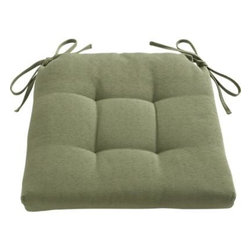 Basque Cactus Chair–Bar Stool Cushion - Tie on additional comfort with our tufted and pleated box cushion custom fitted to our Basque side chairs and barstools. A cushy fiber foam insert is surrounded by a 100% cotton cover.