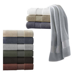 Luxor Linens - St. Tropez Luxury Spa Towels, 6pc, Steel - Made in Turkey, these 100% Supima cotton towels are woven with the highest quality select Extra Long Staple cotton fibers in the world. These towels exhibit a luxurious softness, superior absorbance and unique durability that will exceed your expectations. Available in 10 vibrant colors.3 Piece : 1 bath towel, 1 hand, and 1 wash. 6 Piece : 2 bath towels, 2 hand, and 2 wash100% Extra Long Staple Supima Cotton. Made in Turkey. 650 gsm. Machine wash and dry. Become softer with each washing.