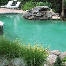 Traditional Pool by Aqua Pools