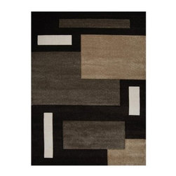 Home Dynamix 9377B Sumatra Area Rug - Dark Brown - Sharp angles hand-carving and deep rich shades of brown imbue the Home Dynamix 9377B Sumatra Area Rug - Dark Brown with personality and a plush character. In an entryway under a dining room table or taking center stage in your family room this floor covering provides a contemporary touch to your home. Ideal for high-traffic areas this rug has been power-loomed for a tight weave that lends to its durability. Spot-clean as needed.About Home Dynamix LLCFrom humble beginnings Home Dynamix LLC has grown into a national and international leader in home decorative products. Truly a family business (founder Moshe Evar's kids even helped him unload the first container of rugs into his basement in 1986) the company cares about each of its employees' well-being and treats them like family. Home Dynamix flourished after becoming the New York metropolitan area's top source for floor covering products and expanded into mats and tiles with plans to enhance its extensive line of high-quality items with more decorative home products.