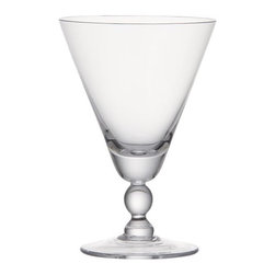 Cluny Goblet - Impress your guests with these shapely and stylish handblown glass goblets.