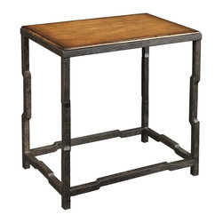 EuroLux Home - New Side Table Blackened Steel Brown - Product Details