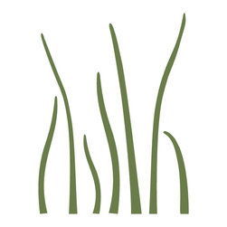 """My Wonderful Walls - Grass Stencil 3 for Painting - - Measures 7""""w x 9""""h"""