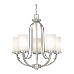 Vaxcel - Vaxcel OX-CHU005BN Oxford 5-Light Chandelier Brushed Nickel - Vaxcel OX-CHU005BN Oxford 5-Light Chandelier Brushed Nickel