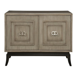 Vanguard - Forrester Chest - Fans of sleek and chic, you're in for a treat. This chest has got a classic profile flush with contemporary embellishments will that breathe new life into your room. For a balance look, it features straight lines contrasted with round brushed-nickel hardware — and inside you'll find an adjustable shelf to meet all your storage needs.