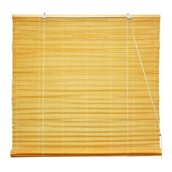 Oriental Unlimited - Shoji Paper Roll Up Blinds in Orange (72 in. - Choose Size: 72 in. WideFinished in a soft shade of orange that brings to mind tropical sunrises on a sandy beach, this Shoji rice paper roll up blind will be an inspired addition to any decor. Available in your choice of sizes, the hand crafted blind diffuses light while allowing your space to remain bright and airy. Shoji Paper Blinds are a wonderful accent to any room. They are not easy to find. Made of orange shoji rice paper. Easy to hang and operate. 24 in. W x 72 in. H. 36 in. W x 72 in. H. 48 in. W x 72 in. H. 60 in. W x 72 in. H. 72 in. W x 72 in. H
