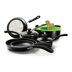 EPOCA - Heavy Weight 12pc Set - Black - Ecolution Heavy Weight 12-Piece Cookware Set in Black