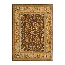 """Safavieh - Tuscany Brown/Yellow Area Rug TUS305-2520 - 5'3"""" x 7'6"""" - Bring a classic look to any room with the Tuscany collection from Safavieh. Made in Turkey with the finest wool, the designs are inspired by our award winning tradtional rugs."""