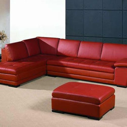 Luxurious Leather Corner Sectional Sofa - Chaise dimensions (left): 37.3W x 84.1D x 29H in