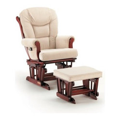 Shermag Glider and Ottoman - Cherry / Beige -