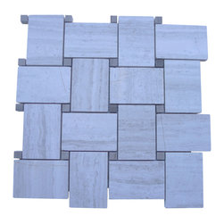 Arbor Wooden Beige With Athens Gray Dot Marble Tile - If you love the look of marble tile, try this easy marble mosaic tile. The mesh backing makes installation a snap and allows you to choose from a range of design options. Create a contemporary look in your foyer or a classic look in your bathroom — it's up to you.