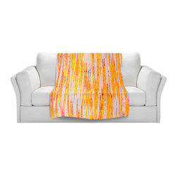 DiaNoche Designs - Fleece Throw Blanket by Iris Lehnhardt - Correlation II - Original Artwork printed to an ultra soft fleece Blanket for a unique look and feel of your living room couch or bedroom space.  DiaNoche Designs uses images from artists all over the world to create Illuminated art, Canvas Art, Sheets, Pillows, Duvets, Blankets and many other items that you can print to.  Every purchase supports an artist!