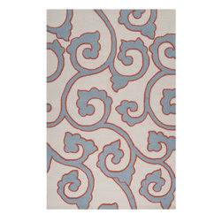 Surya - Mezzo Rust and Slate Area Rug - Add an accent that will bring a pop of color to your home decor with this area rug. Mezzo Rug By Surya is made of polyester with no pile.