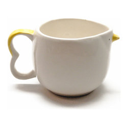 Chirp - The Tiny Cup - an adorably small bird-shaped mug, perfect for espresso or as a creamer cup.