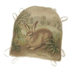 "EuroLux Home - New 18""x20"" Chair Cushion Left Facing Rabbit - Product Details"
