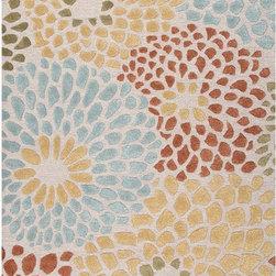 None - Handmade Ivory/ Red Wool/ Art Silk Plush Pile Rug (8 x 10) - Handmade Ivory/ Red Wool/ Art Silk Plush Pile Rug (8 x 10)